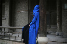 Vintage Wizard Cloak Retro button Costume Gown Linen Robes with Hooded