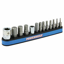 "Powerbuilt 13 Piece SAE Hex Bit Set with Magnetic Holder, 1/16"" to 1/4"" - 941128"