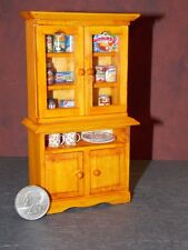 Dollhouse Miniature Kitchen Cabinet food dishes 1:12 Cupboard K33 Dollys Gallery