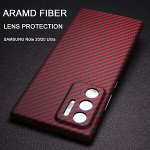 100% Aramid Carbon Fiber Case Lens Protection Cover Samsung Galaxy Note 20 Ultra