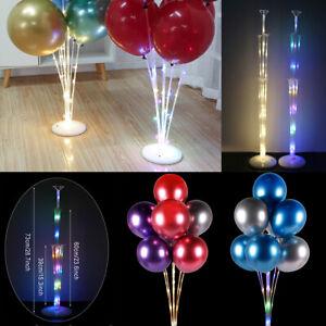 LED Light Balloon Column Stand Holder Kit Base Table Support Wedding Party Decor