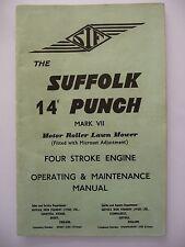 """Suffolk Punch Mark VII operativo & 14"""" Manual de mantenimiento (75G.14) tipo de motor"""