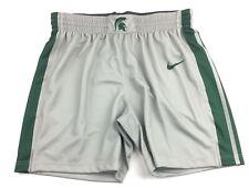 New Nike Spartans Performance Basketball Short Women's Medium Grey Green 932296