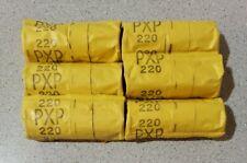 [Lot of 6] Kodak Plus-X Pan Professional PXP 220 B&W Film Rolls Expired 1970s