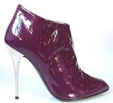 new $850 Giuseppe ZANOTTI purple ankle boots heels 35 US 5 - very pretty