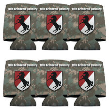 Set of 6 11th Armored Cavalry Military Themed Koozies