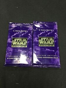 Star Wars CCG A New Hope Revised Edition Booster Packs x2 (Sealed, OOP)