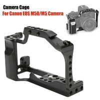 Metal Camera Cage with Arca Swiss QR Plate for Canon EOS M50 M5 Mirrorless Cam