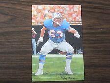 2001 Mike Munchak Goal Line Art Card Houston Oilers / Penn State
