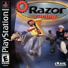 RAZOR RACING Playstation PS1 Complete Black Label Very Good