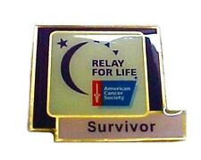 Relay for Life Survivor Lapel Pin Tac Collector Moon Stars Cancer Awareness