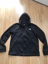 Men's North Face Black And Dark Grey Zip Front Hoodie Jacket Size XL Relective
