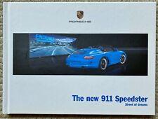 RARE! 2011 PORSCHE 911 SPEEDSTER HARDCOVER SALES BROCHURE BOOK 997 LTD ED