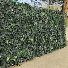 Siepe Artificiale Sintetica 1,5x3 metri Rotolo Anticaduta Rete foglie Edera