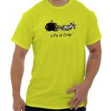 Life is Crap Kitty Yarn Funny Shirt Cool Gift Idea Cute Cat Classic T Shirt Tee