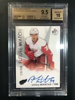 2016-17 SP Authentic Anthony Mantha Future Watch Rookie Auto /999 BGS 9.5