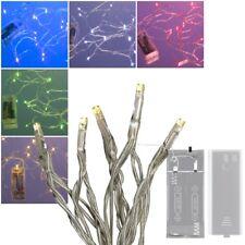 Mini Cadena De Luces LED Con 10 Leds Baterías 7 Colores Transparente Interior