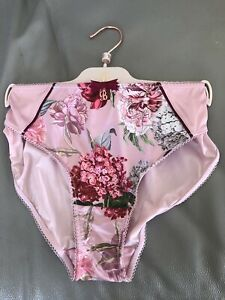 TED BAKER NEW PINK & GREEN PALACE GARDENS FLORAL HIPSTER 16 £14