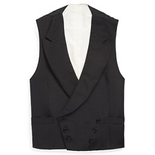 Ralph Lauren Purple Label Double Breasted Silk Tuxedo Vest Waistcoat New $795