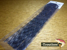 Hedron Grizzly Barred Flashabou Clear & Black - Fly Tying Materials