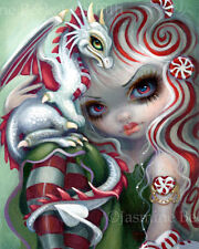 Jasmine Becket-Griffith art print SIGNED Peppermint Dragonling valentine candy