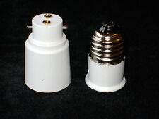NEW 2 LAMP SOCKET CONVERTERS BAYONET TO SCREW IN TO BAYONET ADAPTOR E27 B22