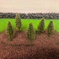 Summer Pine Plastic Trees -Model Scenery Railway Wargames Light Green Woods N OO