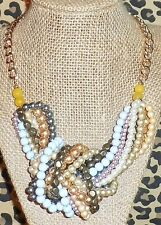 Plunder Nicky Necklace Multi Color Pearls Strands  #A45