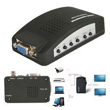 High Quality PDP VCD Webcam BNC S-Video to VGA PC Computer Monitor Converter Box