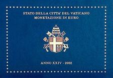 VATICAN EURO COINS OFFICIAL MINT SET KMS JOHN PAUL II FIRST ISSUE 2002