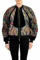 Just Cavalli Silk Multi-Color Reversible Women's Basic Jacket US S IT 40