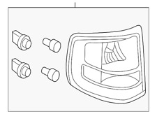 Genuine Ford Tail Lamp Assembly 8A2Z-13405-A