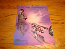 Herb Alpert 1981 promo ad with trumpet, 'Turns Music Into Magic'