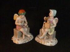 Delightful Pair of Antique Edmé Samson Cherubic Figures, c1900