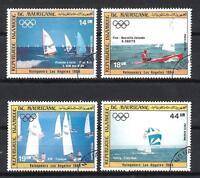 Bateaux Mauritanie (89) série complète de 4 timbres oblitérés