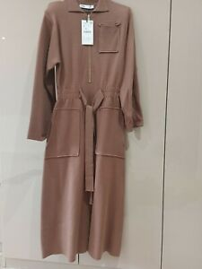 Size Small Long Sleeve brown Jumper Dress From Zara New With Tags