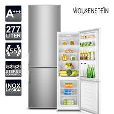 Kühlschrank A+++  Wolkenstein KGK 280 A+++ Kühl-Gefrierkombination Inox Design
