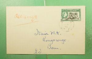 DR WHO 1958 GILBERT & ELLICE ISLANDS VAITUPU TO RONGORONGO  g20050