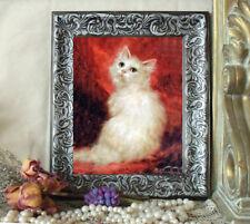 NEW ITEM Brocade Angora Cat Art Print Kahler Antique Style Framed 11X13    horse