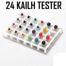 24 Schalter Tester Acryl Boden Rohlinge Tastenkappen Mechanische Tastatur Kailh
