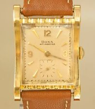 Vintage Doxa Anti Magnetique 18K Sold Gold Mechanical Hand Winding Watch