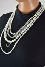Nordstrom Joe Fresh Women's Multi-Layered Pearl Necklace Chain Fashion Jewelry