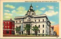 Vtg Linen Postcard Martinsburg West Virginia WV Berkeley County Courthouse UNP