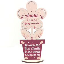 Auntie Birthday Gifts From Niece And Nephew Wooden Flower Sister Christmas Gift