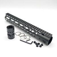 12 Inch Rifle Length Keymod Free Float Quad Rail Handguard Fits 223 5.56