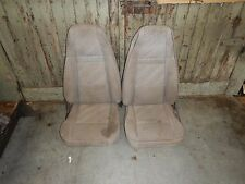 Jeep Wrangler YJ CJ Gray Cloth Front Bucket Recliner Seat Set FREE SHIPPING