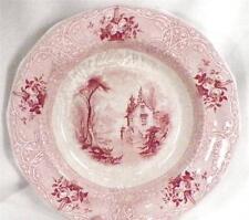 Antique Pink Transferware Bowl Roselle J Meir & Son Chalet Flowers Ironstone
