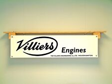 Villiers Banner Classic motorcycle engines vintage retro look advertising sign