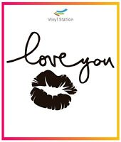 Kiss Love You Sticker Vinyl Window Decal Sign