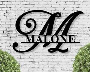 Personalized Metal Sign Custom Last Name Sign Family Name Sign Metal Wall Art